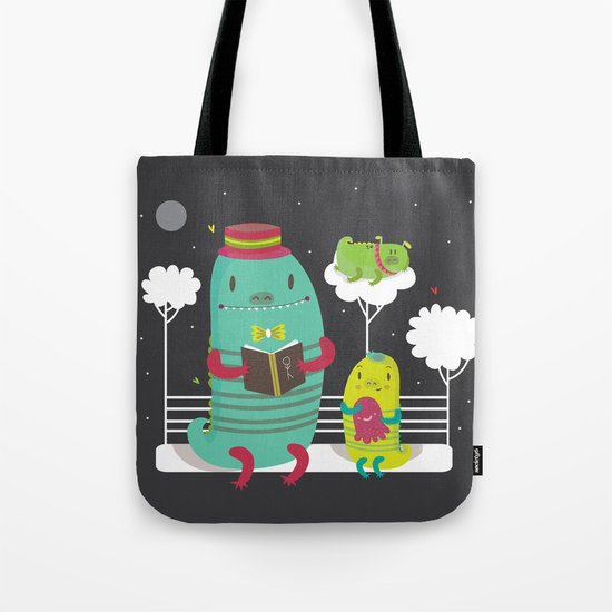 Dino family Tote Bag