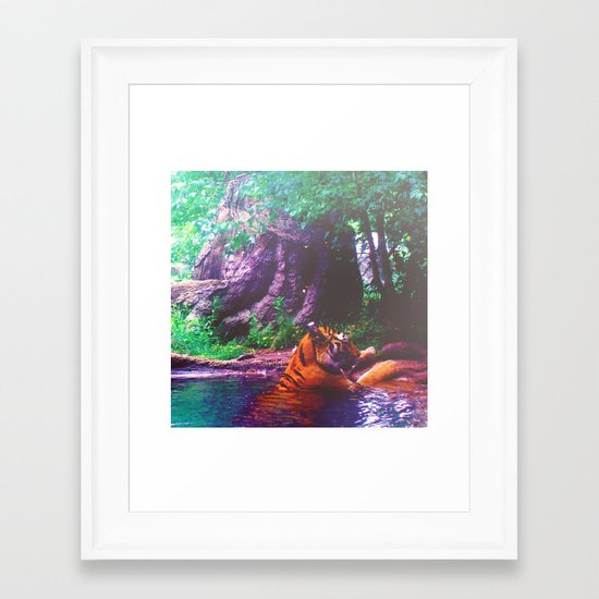 Cooling Off Framed Art Print