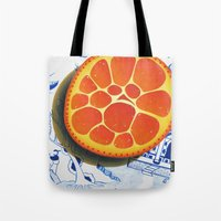 Orange on plate made where they speak Mandarin Tote Bag