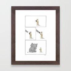 Friends Share  Framed Art Print