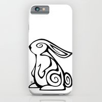 iPhone & iPod Case featuring Rabbit Swirls by Christa Rosenkranz