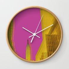 PINK NYC Wall Clock