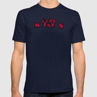 FOR THE WILD CARD INK CONVENTION TABLES Mens Fitted Tee Navy SMALL