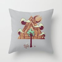 The Evergreen Throw Pillow