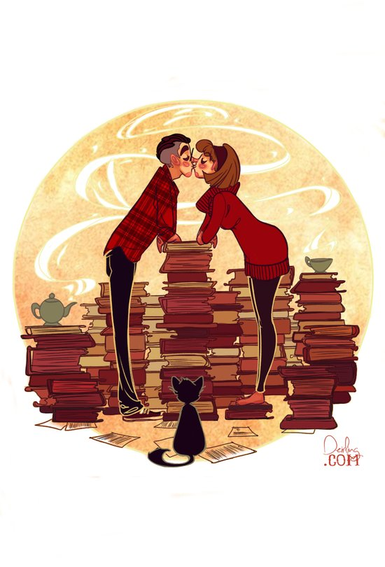 Book Lovers Art Print