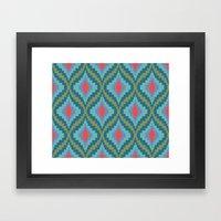 Bright Flame Bargello Framed Art Print