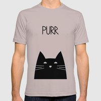 Purr Mens Fitted Tee Cinder SMALL