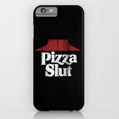 Vintage Pizza Slut Print Black iPhone 6 Slim Case