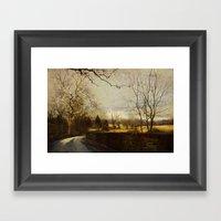 Along The Meadow Framed Art Print