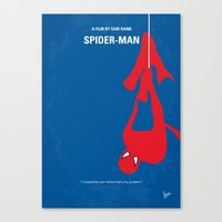 No201 My Spider man  minimal movie poster Canvas Print