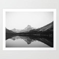 Swiftcurrent Lake, Glacier National Park Art Print