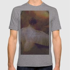 Behind the mirror Mens Fitted Tee Athletic Grey SMALL