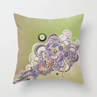 Detailed Diagonal Zentan… Throw Pillow