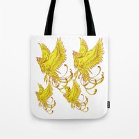 Phoenix On Fire Tote Bag