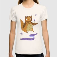 In Cahoots Womens Fitted Tee Natural SMALL
