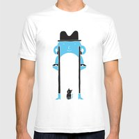 Mr Blue Boy Mens Fitted Tee White SMALL
