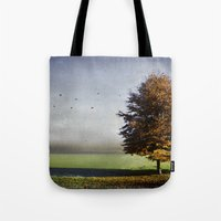 dressed in autumn Tote Bag
