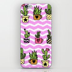 Cacti and Succulent Cute Pattern #society #home #decor #lifestyle iPhone & iPod Skin