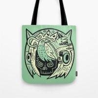 Bubble head - green Tote Bag