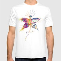 Butterfly Spirit Mens Fitted Tee White SMALL