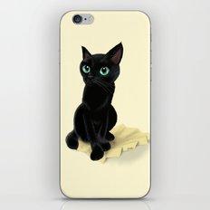 Black little kitty iPhone & iPod Skin