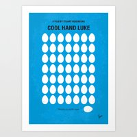 No616 My Cool Hand Luke minimal movie poster Art Print