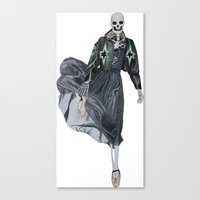 leather & ballet skeleton Canvas Print