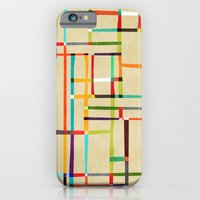 iPhone Cases featuring The map (after Mondrian) by Budi Kwan
