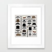 Moustache Styles Framed Art Print