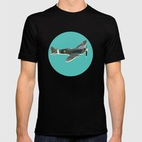 A Brief History of Aviation Mens Fitted Tee Black SMALL