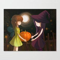 Pumpkin Girls Canvas Print