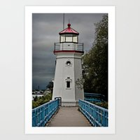 A walk to the lighthouse Art Print