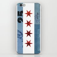 Ephemeral Chicago Flag iPhone & iPod Skin