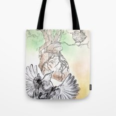 Green Bough, Singing Bird Tote Bag