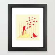 Framed Art Print featuring Bubbly Hearts by Pigboom El Crapo
