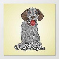 Dog Style Canvas Print