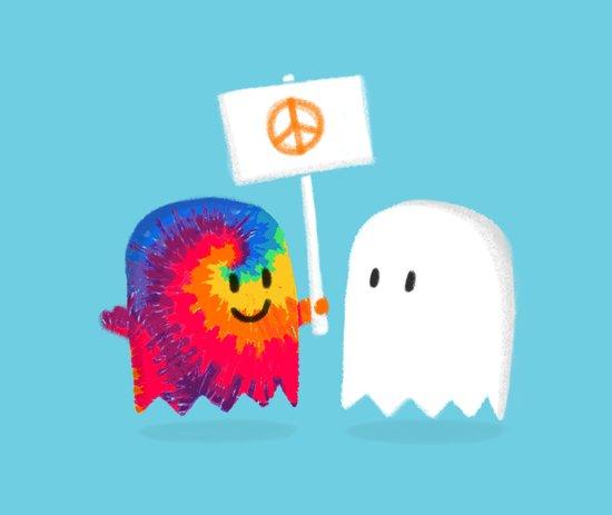 Hippie ghost Art Print
