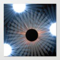 Canvas Print featuring black hole sun by ravynka