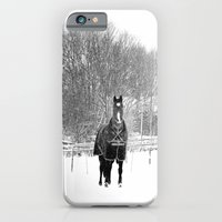 Horse In The Snow iPhone 6 Slim Case