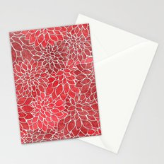 Floral Abstract 20 Stationery Cards
