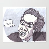 Nicholas Cage loves bees. Canvas Print