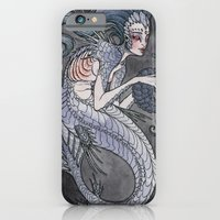 iPhone & iPod Case featuring the Siren and the Seahorse art print  by Caitlin Hackett