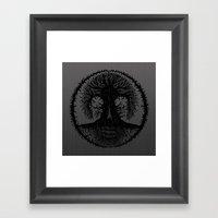 romkalah, black Framed Art Print