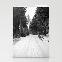 winter landscape Stationery Cards