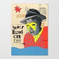 superheros cry too Canvas Print
