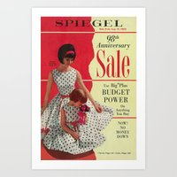 1963 - 98th Anniversary Sale -  Summer Catalog Cover Art Print