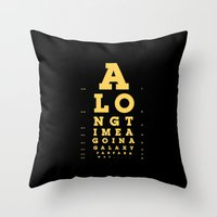Jed Eye Chart Throw Pillow