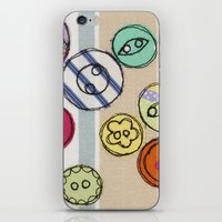 Embroidered Button Illus… iPhone & iPod Skin