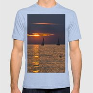 Summer Sunset On The Bal… Mens Fitted Tee Tri-Blue SMALL