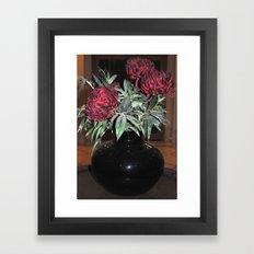 The black vase Framed Art Print
